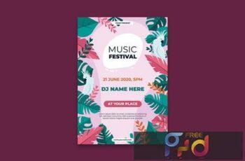Music Festival Poster DE3QBZZ 3