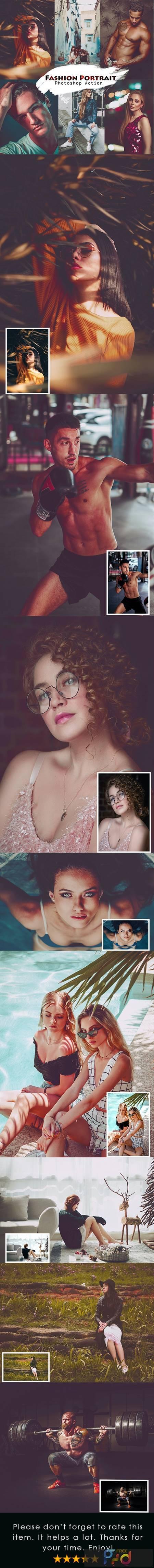 Fashion Portrait Photoshop Action 27131589 1