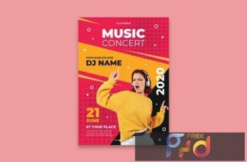 DJ Music Festival Poster EFAZP6D 7