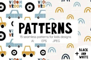 Cute cars Patterns collection 4634351 6