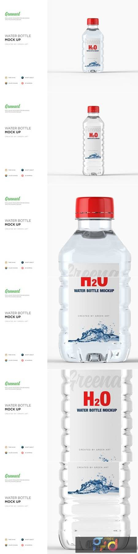 Plastic PET Bottle w Water Mockup 2738359 1