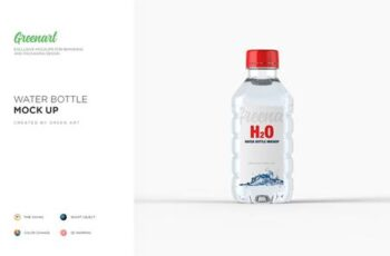 Plastic PET Bottle w Water Mockup 2738359 2
