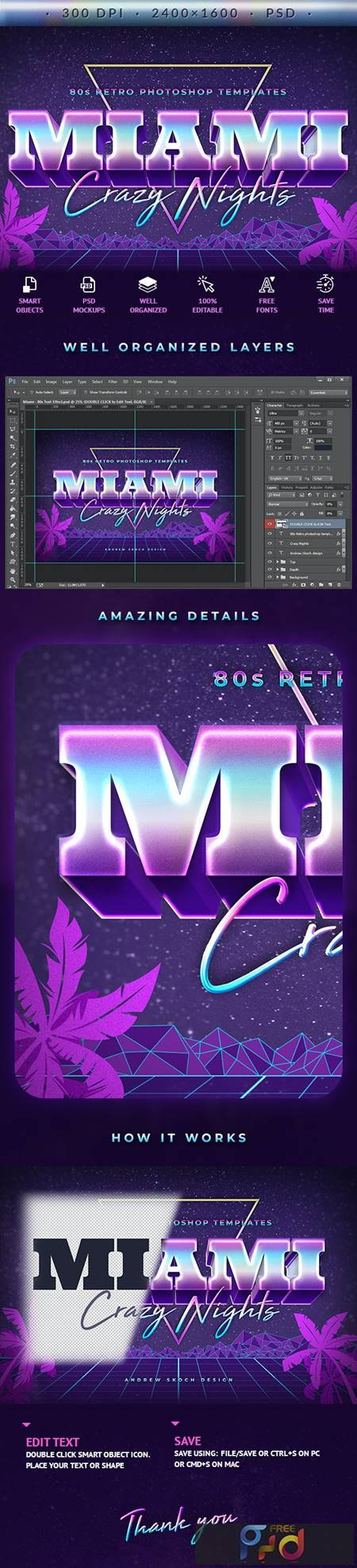 Miami - 80s Retro Text Effect 27731071 1