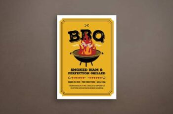 Barbeque Party Flyer BHBUFQH 8
