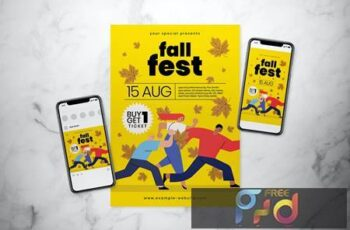 Fall Fest Flyer Set 6RRUZS6 4