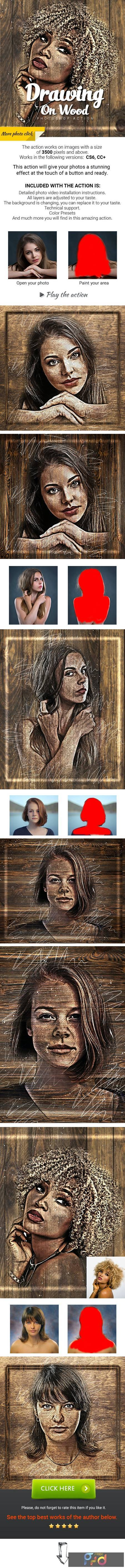 Drawing on Wood Photoshop Action 27545130 1