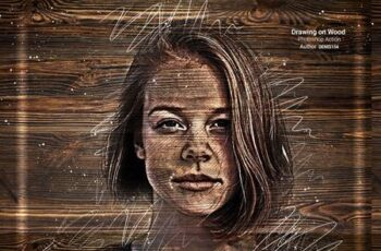 Drawing on Wood Photoshop Action 27545130 2