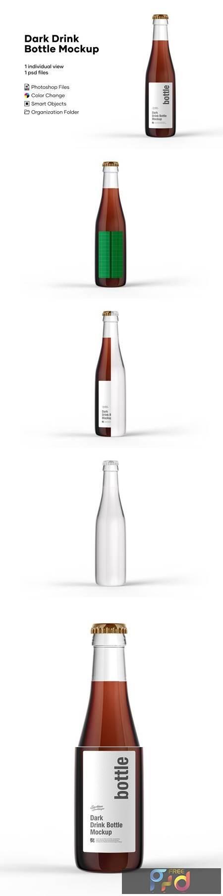 Dark Drink Bottle Mockup 5276740 1