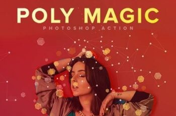 Poly Magic Photoshop Action 27706666 2