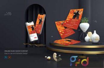Online Music Show Flyer - Instagram Post & Stories N4QG6SB 2