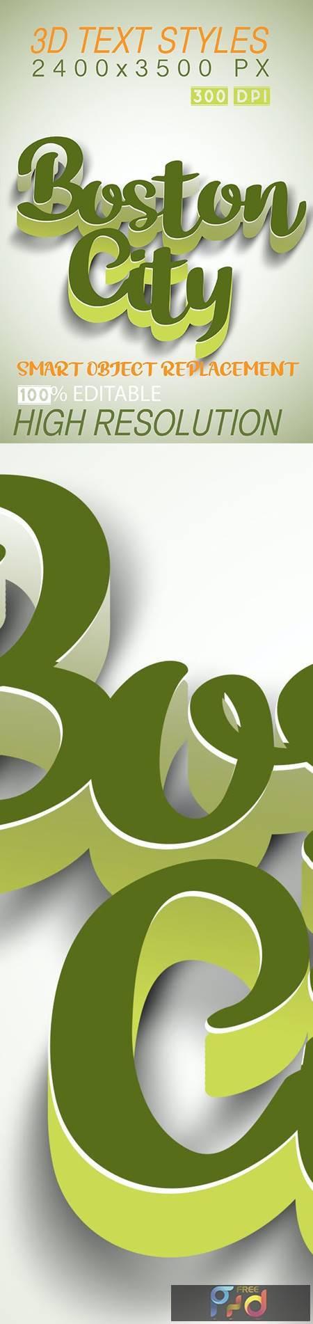 3D Text Styles Boston 26703076 1