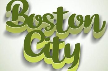 3D Text Styles Boston 26703076 12