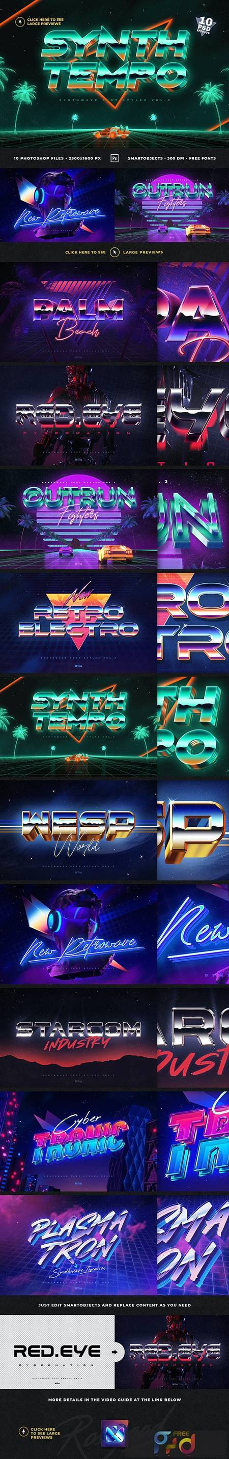 80`s Retro Text Effects vol.3 Synthwave Retrowave 27064939 1