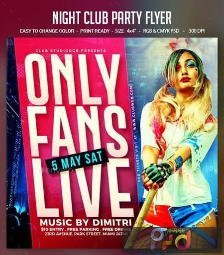 Night Club Party Flyer 26558218 1