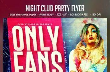 Night Club Party Flyer 26558218 12