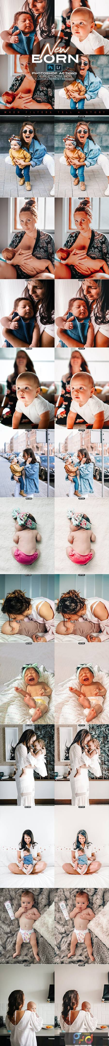 New Born Photoshop Actions + LR Presets 28114485 1