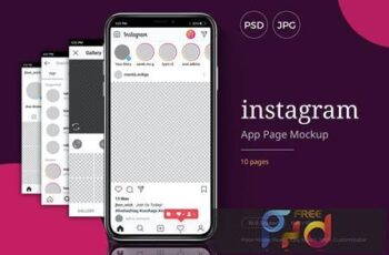 Instagram App Page Mockup Template QDBRTV9 15