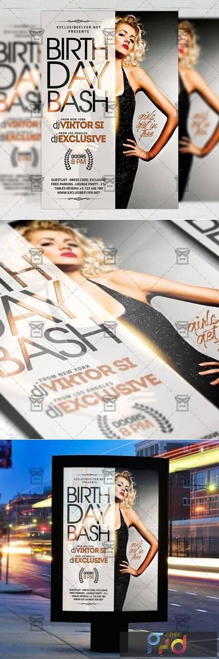 Birthday Bash Flyer – Club A5 Template 21264 1