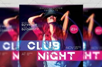 Club Night Party Flyer - Club A5 Template 21289 15