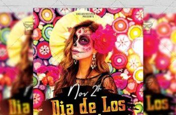 Dia de Los Muertos Celebration Flyer - Seasonal A5 Template 21174 6