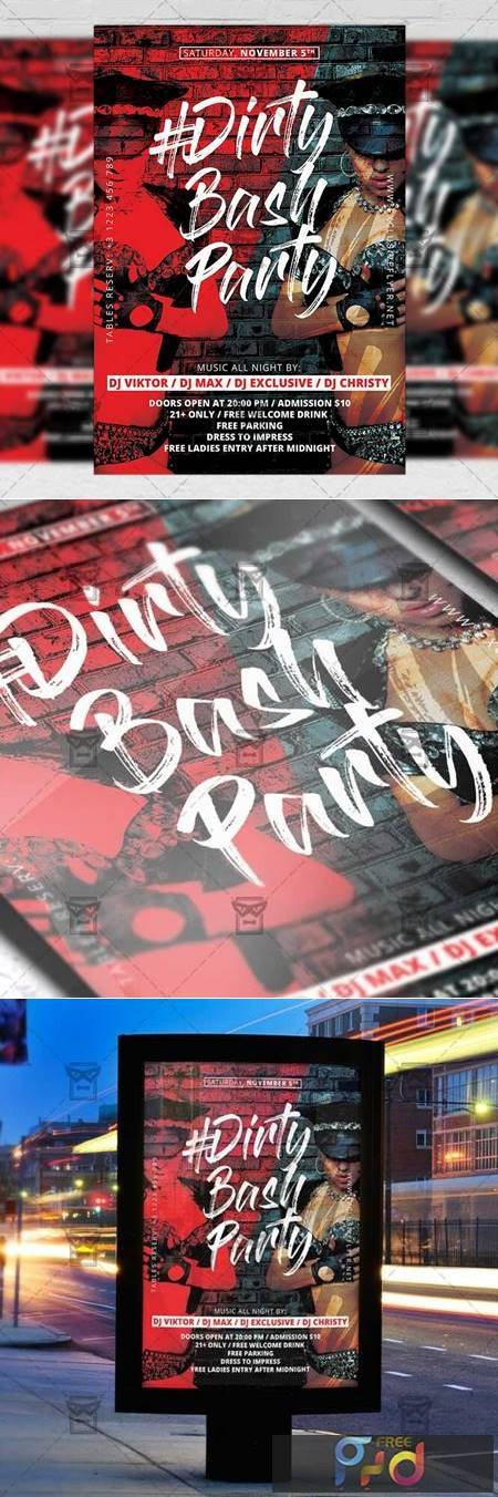 Dirty Bash Party Flyer - Club A5 Template 21239 1