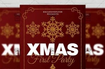 First Christmas Party Flyer - Seasonal A5 Template 21142 13