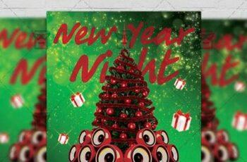 New Year 2019 Flyer - Seasonal A5 Template 21378 9