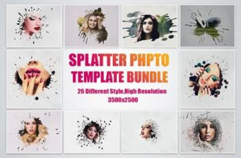 SPLATTER PHOTO TEMPLATE BUNDLE 4957159 10