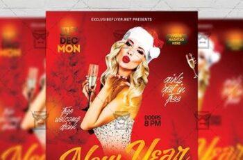New Year Night 2019 Flyer - Seasonal A5 Template 21260 10