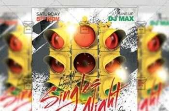 Singles Night Flyer - Club A5 Template 21311 4