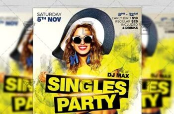 Singles Party Flyer - Club A5 Template 21306 11