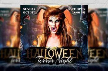 Terror Night Flyer - Halloween A5 Template 21277 8