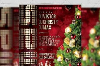 Xmas Night 2019 Flyer - Seasonal A5 Template 21387 8