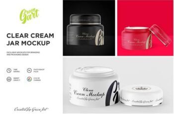 3 PSD Clear Cream Jar Mockup 2310526 4