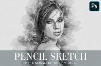Pencil Sketch Photoshop Action 4870378 3