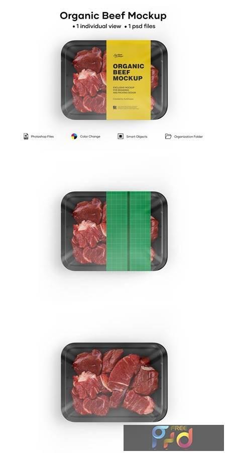Diced Beef Tray Mockup 5242169 1