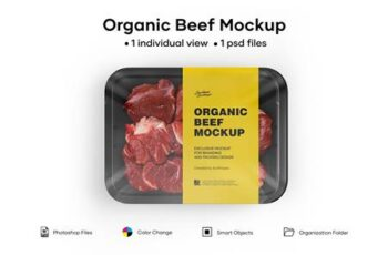 Diced Beef Tray Mockup 5242169 3