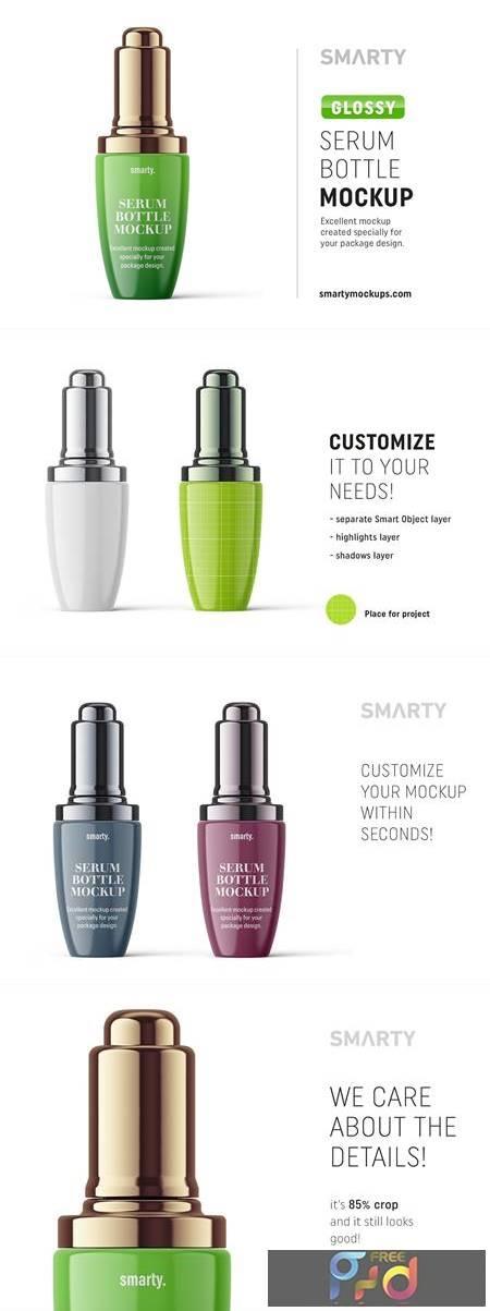 Glossy serum bottle mockup 4817504 1
