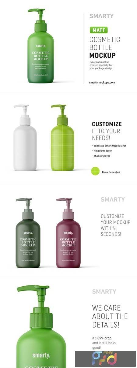 Matt cosmetic bottle mockup 4817473 1