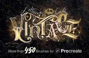Vintage Lettering Bundle 4923868 4