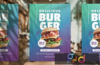 Burger Promotion Flyer JRGY7QK 2