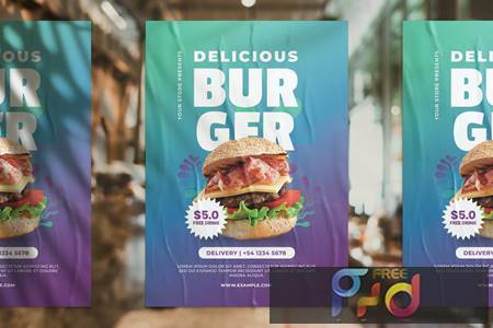 Burger Promotion Flyer JRGY7QK 1