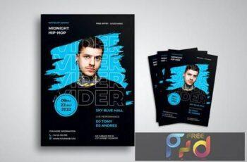 DJ Music Flyer XTEU6WY 12