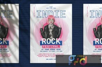 Indie Rock Festival Flyer B2GAJXC 12