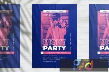 Night Party Poster C956TXT 15