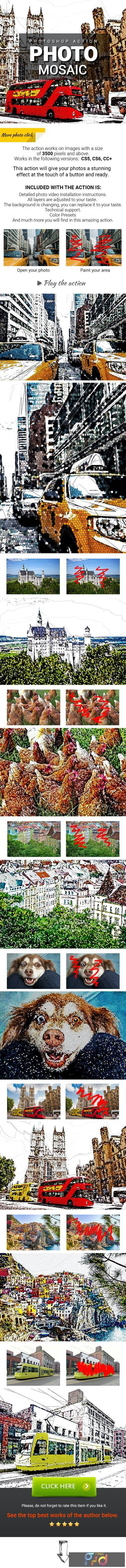 Photo Mosaic Photoshop Action 27986689 1