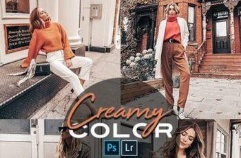Creamy Photoshop Action + LR Presets 28194637 6