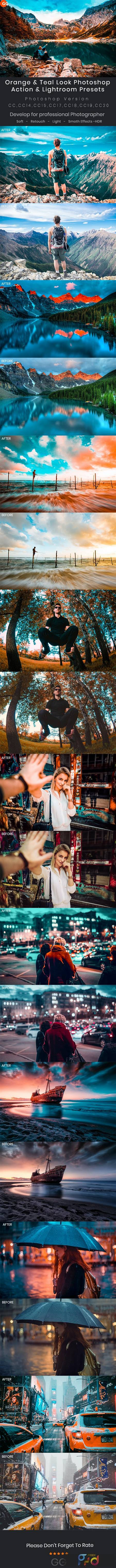 Orange & Teal Look Photoshop Action & Lightroom Presets 28205906 1