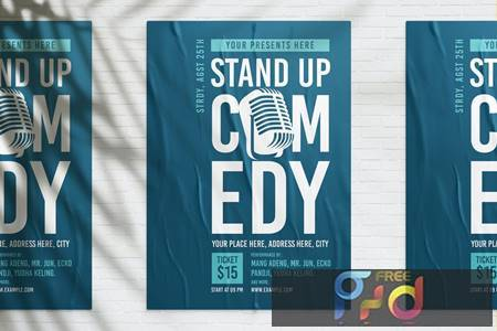 Stand Up Comedy Poster E5M28UV 1