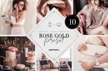Rose Gold Lightroom Presets Bundle 5251326 2